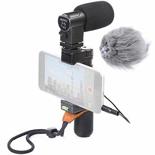 Movo Smartphone Video Rig with Stereo Microphone, Grip